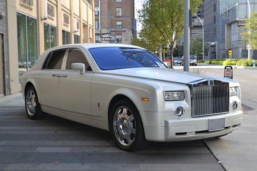Rolls Royce, Luxury Car, Street, Hotel, Emblem, Rolls