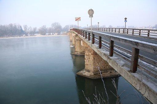 Innbrücke, Bridge, Inn, River, Border, Austria