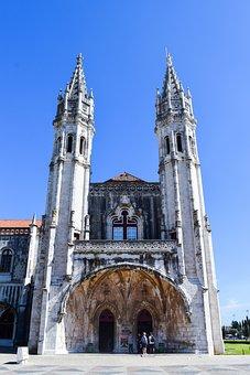 Portugal, Europe, Building, City, Blue, Wallpaper