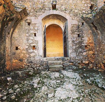 Door, Ancient, Greece, Old, Construction, Mystic
