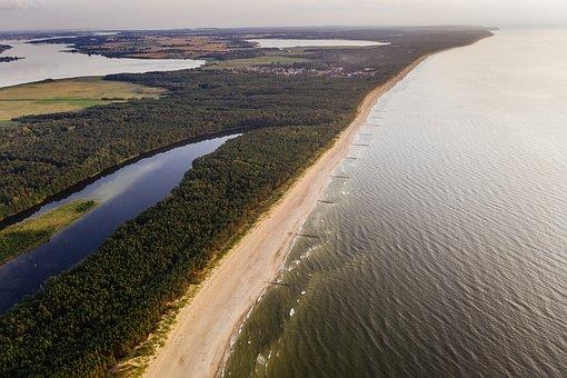 Baltic, Drone, Aerial, Landscape, Sea