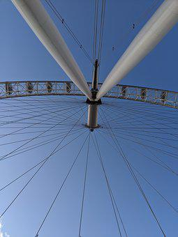 London Eye, Spokes, London, England, Landmark