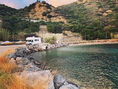 Camper, Van, Trip, Poetry, Crete, Greece, Tourism