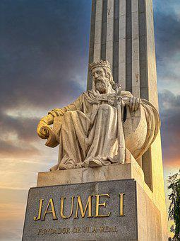 King James I, Rei Jaume I, Vila-real, Sculpture