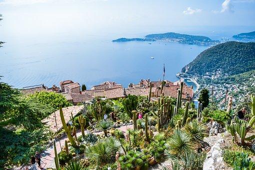 France, Mountain, Peak, Sea, Panorama, Plant, Nice