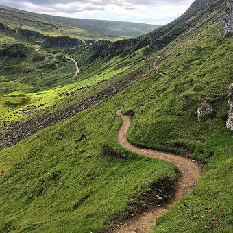 Quiraing, Isle Of Skye, Trail, Nature, Hiking, Mountain