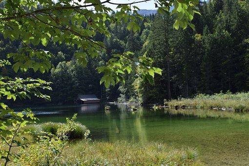 Toplitzsee, Water, Boat House, Waters, Hut, Nature