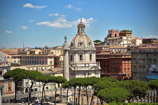 Dome, Rome, Italy, Architecture, Tourism