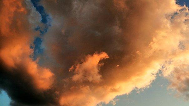 Sky, Noon, Sunset, Landscape, Clouds, Nature, Horizon
