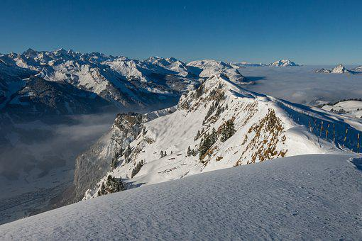 Hochybrig, Ski Area, Winter, Switzerland, Mountains