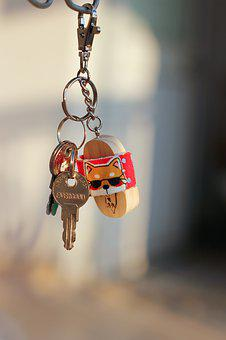 Key, Keychain, Hanging, Symbol, Home, Security, Lock