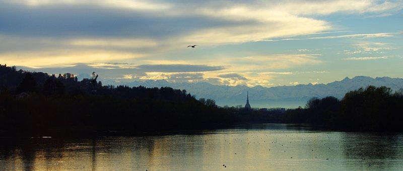 Torino, Turin, San Mauro Torinese, Mole, Landscape, Po