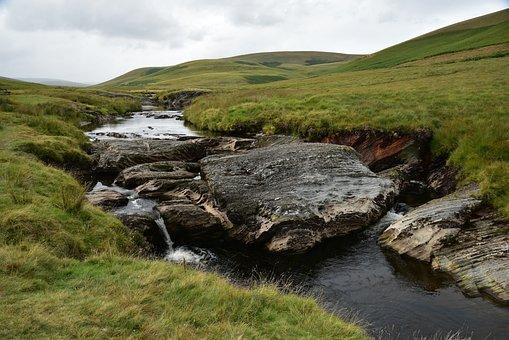 Landscape, England, Bach, Meadow, United Kingdom, Water