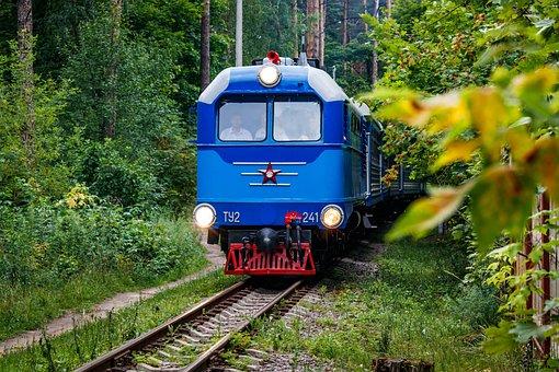 Locomotive, Diesel Locomotive, Cars