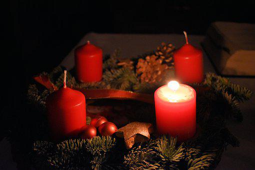 Christmas, First Candle, Candles, Advent