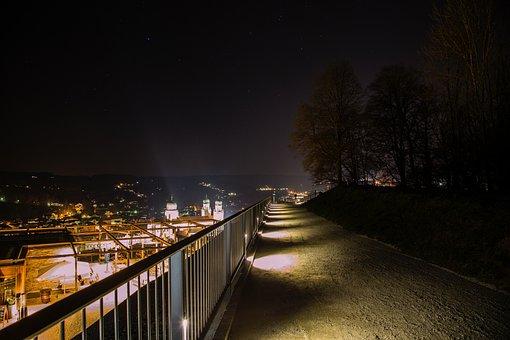 Night, Passau, Light, Dom, Golden, City Of Three Rivers