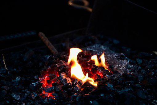 Fire, Wood, Market, Flame, Heat, Hot, Glow, Combustion
