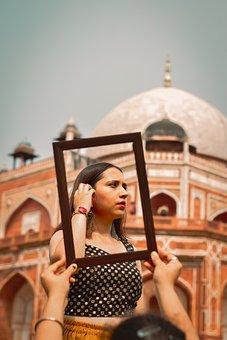 Portrait, Frame, Ethnic Beauty, Tomb, Outdoor, Model