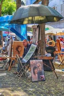 Montmartre, Paris, Painters, Painting, Portrait