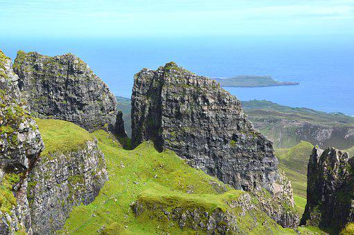 Isle Of Sky, The Quiraing, Scotland, Europe, Cliff