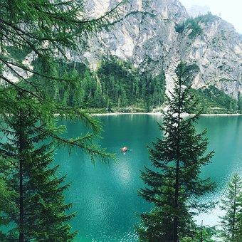 South Tyrol, Pragser Wildsee, Bergsee, Mountain Lake