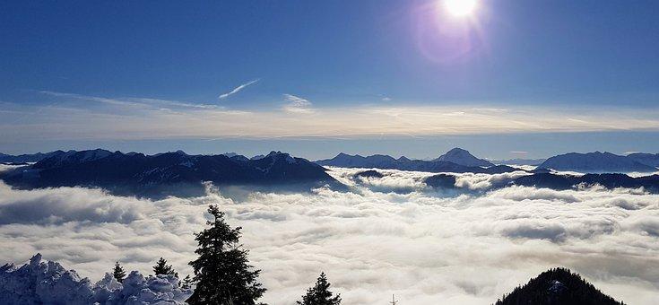 Sky, Cloud, Alps, Mountain, Snow, Blue, White, Alpine
