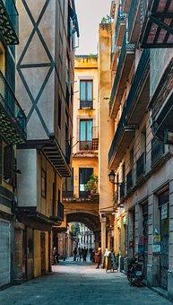 Street, Barcelone, City, Building, Urban, Architecture