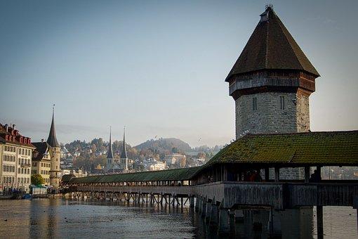 Switzerland, Bridge, Chapel Bridge, Attraction