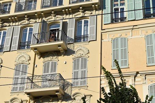 Facade, Balcony, Building, House, Windows, City