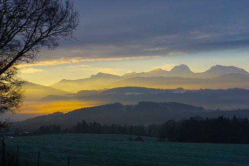 Chiemgau, Alpine, Winter, Mountains, Landscape, Bavaria