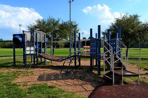 Playground, Park, Bridge, Young, Outdoor, Childhood