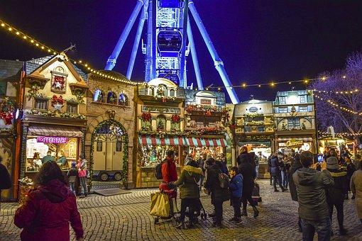 Christmas Market, Bude, Christmas, Stand, Lighting