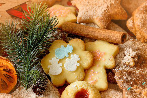 Pastries, Christmas, Santa Claus, Advent, Cookie, Bake