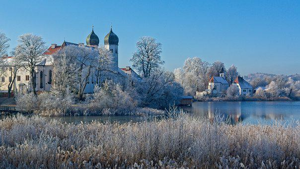 Winter, Frost, Cold, Church, Onion Dome, Steeple