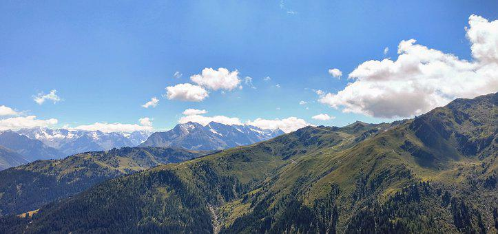 Mountain, Sky, Cloud, Forest, Nature, Alps, Blue