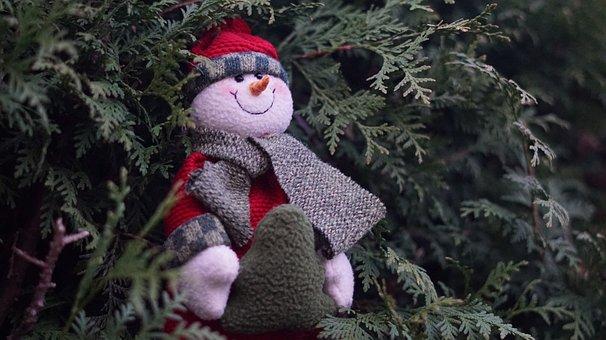 Background, December, Figure, Snowman, Santa Claus