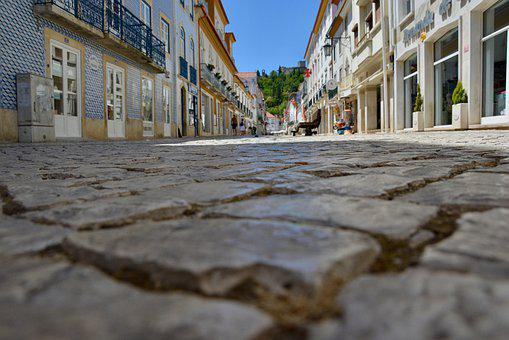 Paving Stones, Downtown, Summer, Portugal, Away