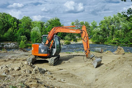 Excavators, Site, Construction Machine, Construction
