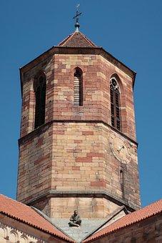 Steeple, Alsace, Rosheim, France, Historic Center