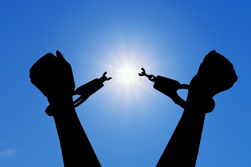 Freedom, Break, Handcuffs, Happiness, Liberation, Quit