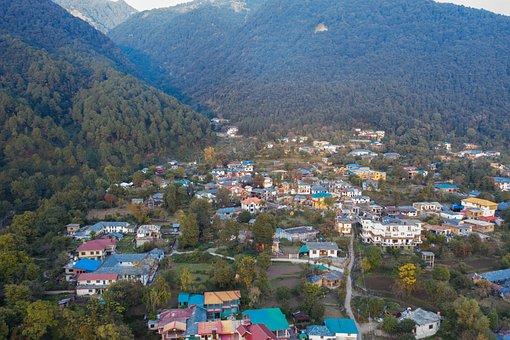 Nature, Himachal Pradesh, Homes In Hills, Manali