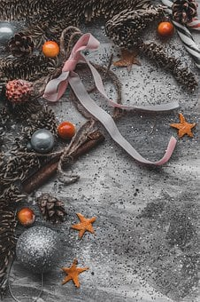Christmas, Ornaments, Background, New Year, Holidays