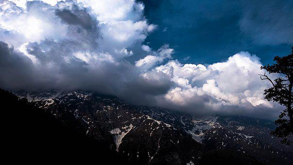 Mountain, Cloud, Forest, Green, Cyclone
