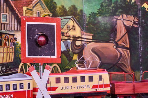 Train, Railway, Level Crossing, Signal, Traffic Lights