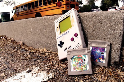 Nintendo, Gameboy, Classic, Retro, School Days