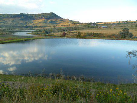 Landscape, Lake, Reflection, Peace, Calm, Sky, Panorama