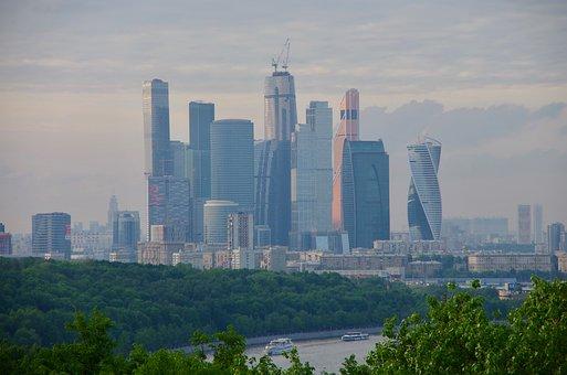 Moscow, Skyline, Russia, City, Architecture, Skyscraper