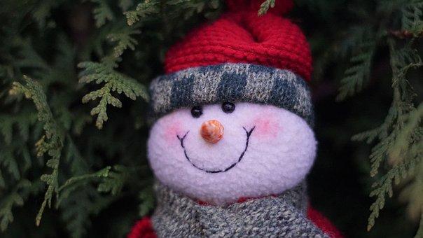 Snowman, Santa Claus, Christmas, December, Anticipation