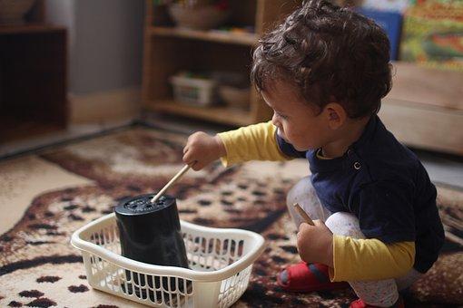 Toddler, Playing, Montessori, Diy, Toys, Handmade