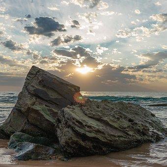 Beach, Sunrise, Ocean, Sea, Dawn, Water, Sky, Happy